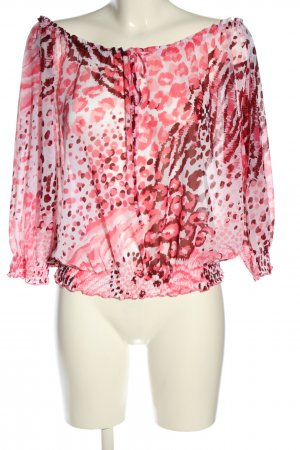 H&M Transparenz-Bluse Allover-Druck Casual-Look