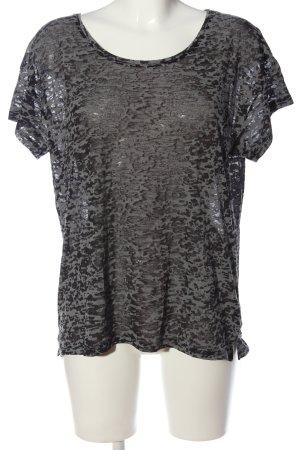 H&M Transparentna bluzka jasnoszary Abstrakcyjny wzór W stylu casual