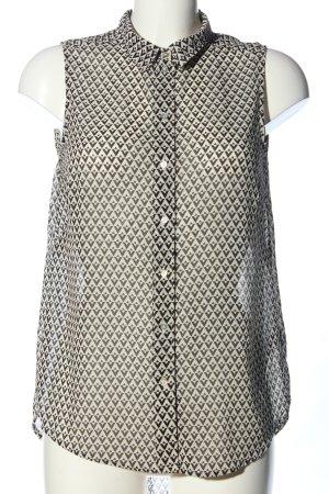 H&M Transparenz-Bluse schwarz-wollweiß Allover-Druck Casual-Look