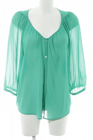 H&M Transparent Blouse green casual look