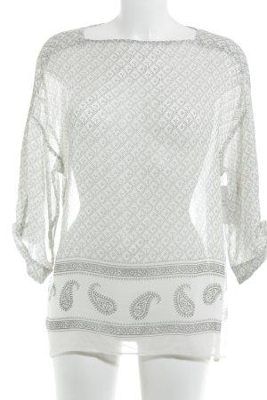 H&M Transparenz-Bluse schwarz-hellgrau Punktemuster schlichter Stil