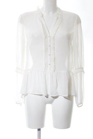 H&M Transparenz-Bluse wollweiß Casual-Look