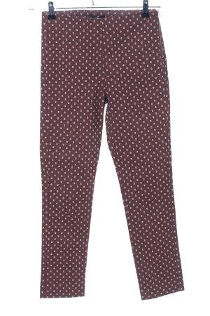 H&M Treggings rosso-bianco motivo grafico stile casual