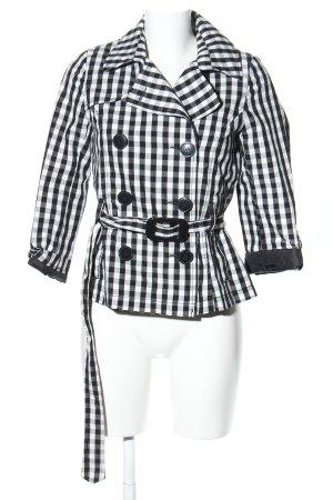 H&M Trenchcoat wit-zwart geruite print casual uitstraling