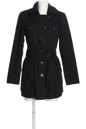 H&M Trenchcoat schwarz Casual-Look