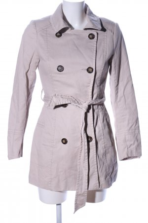 H&M Trenchcoat hellgrau Business-Look