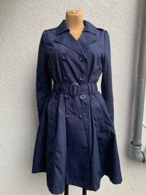 H&M Trenchcoat dunkelblau Übergangsjacke