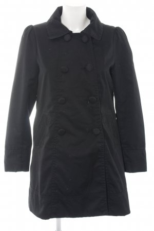 H&M Trenchcoat schwarz klassischer Stil