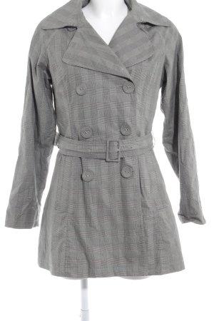 H&M Trenchcoat grau-schwarz Karomuster Street-Fashion-Look