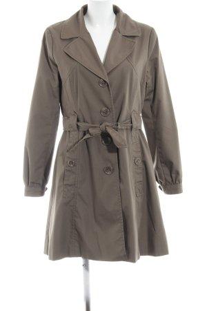 H&M Trench marrone-grigio Tessuto misto