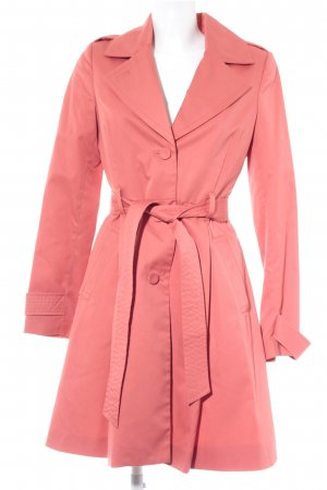 H&M Trenchcoat lichtrood Webpatroon casual uitstraling