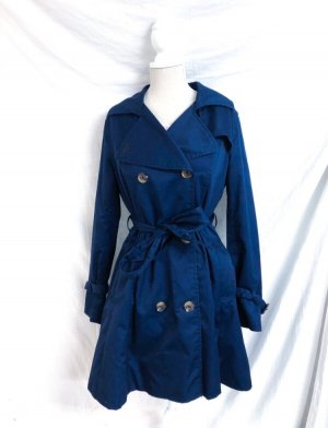 H&M Trenchcoat Marineblau Trend Blogger M 38