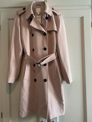 H&M Trenchcoat Rosé Gr. 42