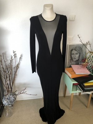 H&M Trend Abendkleid schwarz cut out 38