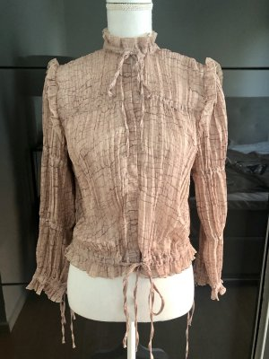 H&M Blouse à col montant or rose