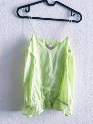 H&M trend collection Spagettiträger top neon gelb Xs