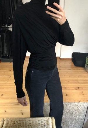 H&M Trend Top à col roulé noir viscose