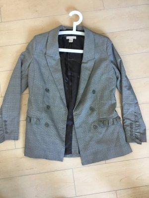 H&M Trend Jacket Sakko Blazer Kariert Rüschen Jacke Gr 34