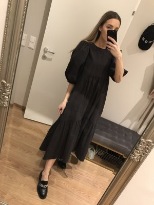 H&M Trend Robe ballon taupe-gris anthracite