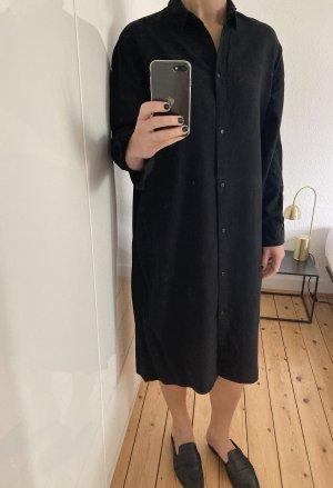 H&M Koszulowa sukienka czarny Lyocell