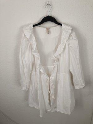 H&M Vestido estilo flounce blanco