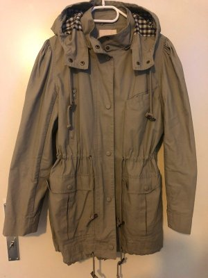 H&M Trend Parka green grey cotton