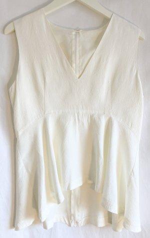 H&M Trend Peplum Top white-natural white