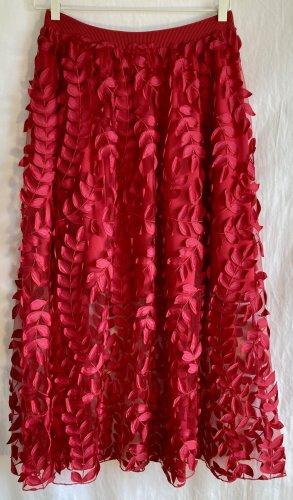 H&M Trend Falda de tul rojo Poliéster