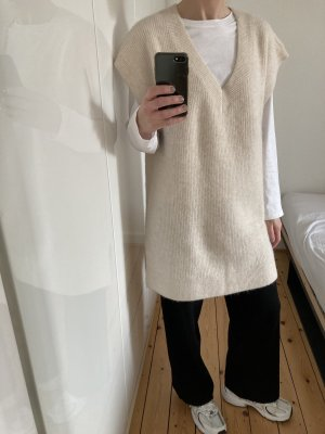 H&M Trend Długi sweter bez rękawów Wielokolorowy Wełna z alpaki