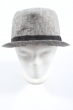 H&M Trilby light grey-black flecked casual look