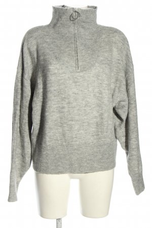 H&M Pull marin gris clair moucheté style décontracté