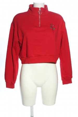 H&M Troyer czerwony Nadruk z motywem W stylu casual