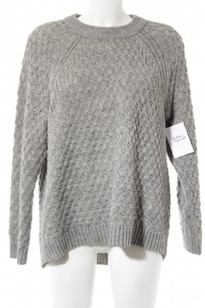 H&M Troyer hellgrau Casual-Look