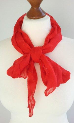 H&M Tuch in Trapezform, Rot, Streifen & Bogenkanten