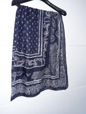 H&M Apaszka biały-ciemnoniebieski