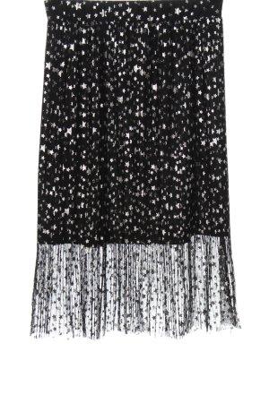 H&M Tiulowa spódnica czarny-srebrny Na całej powierzchni Elegancki