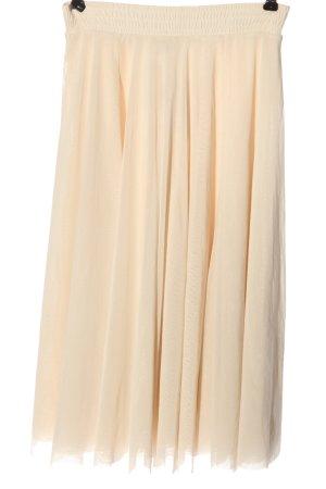 H&M Tiulowa spódnica kremowy Elegancki