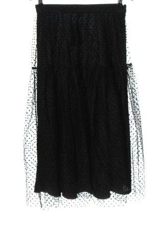 H&M Tiulowa spódnica czarny Wzór w kropki Elegancki