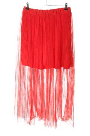 H&M Tiulowa spódnica czerwony W stylu casual