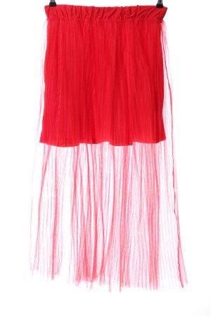 H&M Tiulowa spódnica czerwony Ekstrawagancki styl