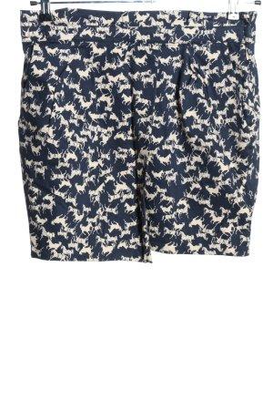 H&M Tulpenrock blau-weiß Allover-Druck Casual-Look