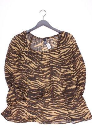 H&M Tunika Größe 40 mit Tierdruck braun aus Polyester