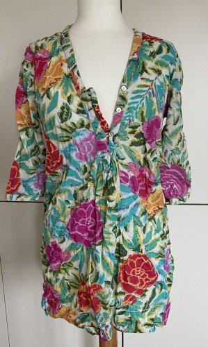 H&M Sukienka tunika Wielokolorowy Bawełna