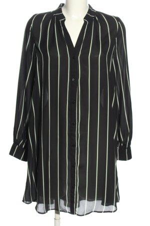 H&M Tunikabluse schwarz-weiß Streifenmuster Casual-Look