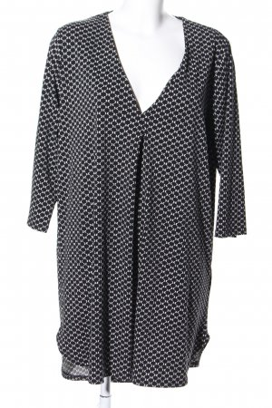 H&M Tuniekjurk zwart-wit volledige print casual uitstraling