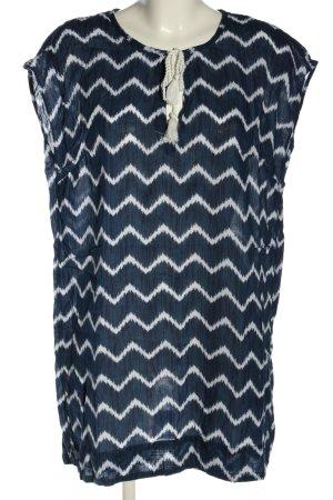 H&M Tunikakleid blau-weiß Allover-Druck Casual-Look
