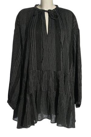 H&M Sukienka tunika czarny-biały W stylu casual