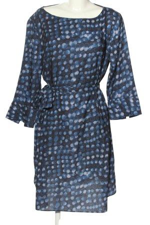H&M Sukienka tunika niebieski-czarny Na całej powierzchni W stylu casual