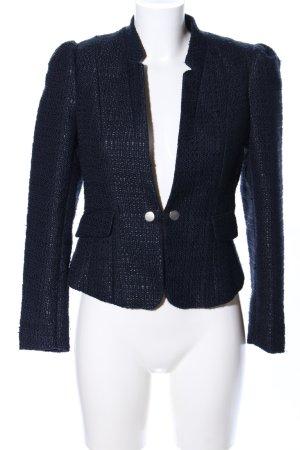 H&M Tweed Blazer blue allover print business style
