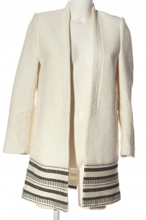 H&M Blazer in tweed crema-nero motivo a righe stile casual